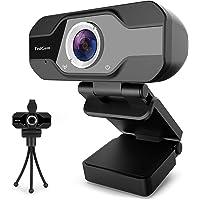 Webcam per PC, TedGem 1080P Webcam PC con Microfono, Webcam USB con Treppiede, Videocamera Autofocus per Chat, Video e…