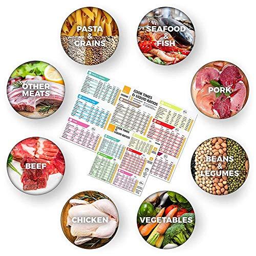 nt Pot Cooker Cook Times Quick Reference Guide, Instant Pot Zubehör Magnetische Cheat Sheet Kochbuch Wasserdichte Herd-Aufkleber Fleisch, Gemüse ()