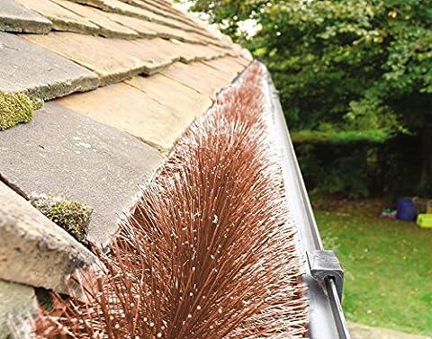 Protège gouttière Hedgehog Marron 20m (5 X 4m)