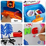 Lernen Set Magnettafel mit Tisch Spielzeug zum Zeichnen und Lernen für Kinder ab 3 Jahren - 3