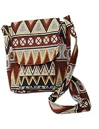 Brocade Ethnic Hippie Multi-Pocket Outdoor Travel Walking Crossbody Shoulder Bag Purses Sling Bag (Pattern 2)...