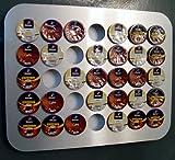 KAPSELHALTER für 35 CAFISSIMO , K-fee oder Expressi Kapseln im Design `GEO´. Wandhalter Kaffee Dispenser Padhalter Aufbewahrung Wand Wandhalter Kapselspender Kapselständer Ständer Spender Alu - Design von Holzhäuser !