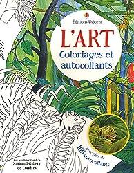 L'art - Coloriages et autocollants