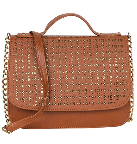 ADISA SL5004 tan party girls sling bag