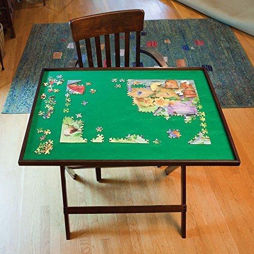 Walnuss-große Tabelle (Bits and Pieces Klapp-Puzzle Tabelle Set Up Puzzle Fun Folds überall flach für einfache Lagerung bei Nicht Verwendung Puzzle Zubehör)