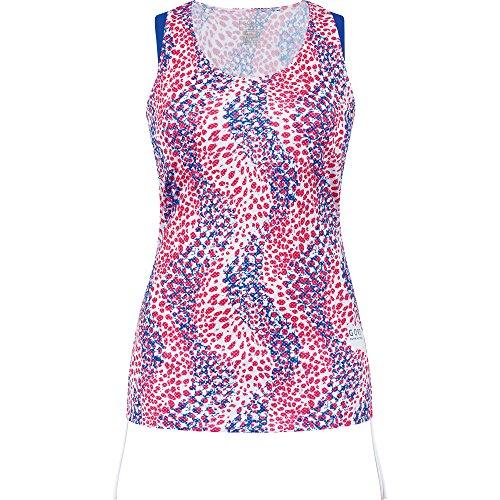 GORE RUNNING WEAR Damen ärmelloses Laufshirt, Sunlight Print, ISUNLP White/Brilliant Blue