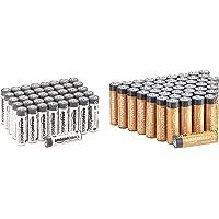 Amazon Basics AA Industrie Alkalibatterien, 40er Pack & AA-Alkalibatterien, leistungsstark, 1,5 V, 48 Stück (Aussehen…