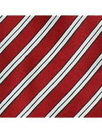 Skinny Tie (Tie58)- Men's Red, White and Black Diagonal Stripe