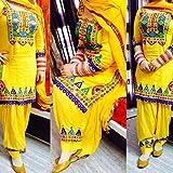 Zofey Fashion Women Semi Stitched Salwar Suit Set(HF_YellowPatiyala_Yellow_Free Size)