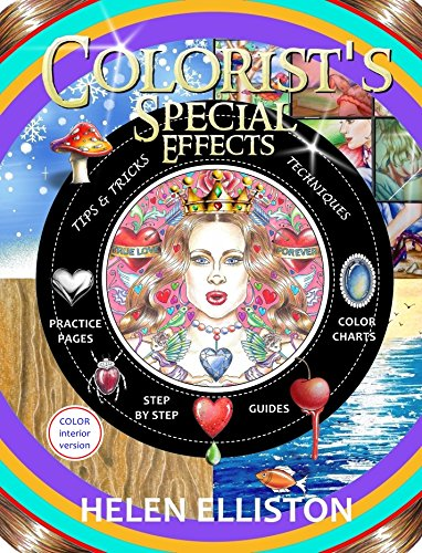 Colorist's Special Effects - color interior: Step by step guides to making your adult coloring pages POP! (English Edition)