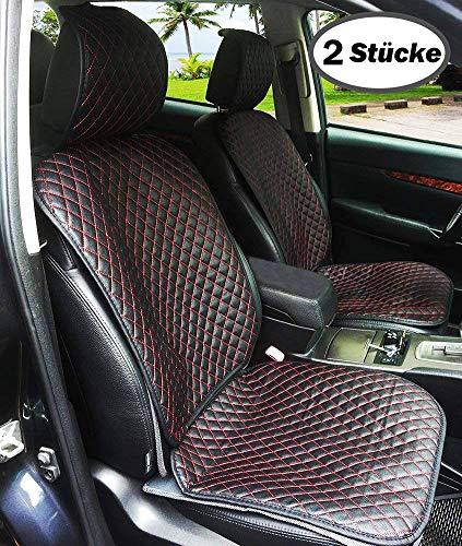 Auto Sitzauflage Auto Sitzkissen Auto Geeignet für Alle Auto PU Leder x 2 Stücke ()