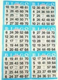6 on Blue Bingo Paper Cards - 500 sheets - 3000 cards by American Games
