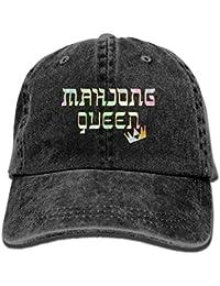 Wolanim Mahjong Queen Mahjongg Mah-Jong Chinese Jewish Game1 Adult Sport Adjustable Baseball Cap Cowboy Hat Black