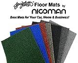 Felpudo Nicoman, para puerta, se limpia fácilmente, barrera para la entrada de casa, se puede lavar, no se rompe, es una práctica alternativa a los felpudos de fibra de coco, azul, 60x40cm (2x14)