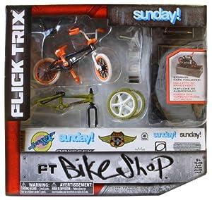Flick Trix 6014025 Bike Shop - Bicicleta en miniatura con piezas de sustitución [Importado de Alemania] de Spin Master