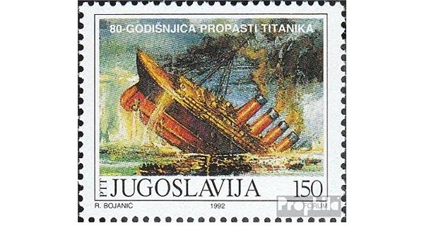 Seefahrt 2012 Untergang der Titanic kompl.Ausg. Briefmarken f/ür Sammler Prophila Collection Gibraltar 1461-1465