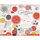 2016/2017 Organised Mum Family Home Planner Academic Calendar. Month-to-view family organiser with 6 columns. Starts with academic school year (runs September '16 until December '17). Wall calendar that comes with stickers, large paperwork pocket and clip-on pen.