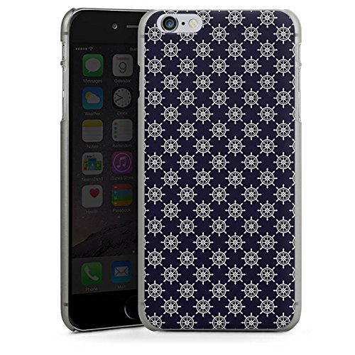 Apple iPhone X Silikon Hülle Case Schutzhülle Steuerrad Muster Matrose Hard Case anthrazit-klar