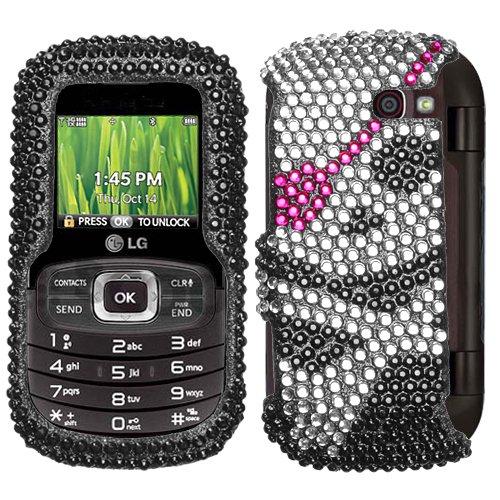 Hartschalenhülle für LG VN530 (aufsteckbar, Kunststoff, Motiv Totenkopf mit Totenkopf) (Handy Case Lg Octane)