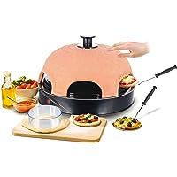 Emerio PO-115984 Four à pizza Terracotta Orange / Noir 6 Personne