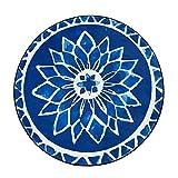 SESO UK-CAR Europäische Runde Teppich Ethnischen Stil Rutschfeste Weichen Teppich für Kinder Schlafzimmer Wohnzimmer (Größe : 150cm)