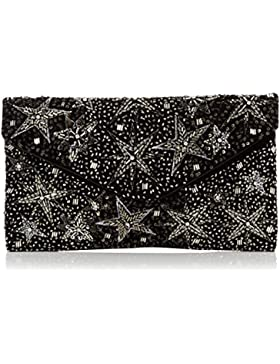New Look Damen Sylvie Star Clutch, Schwarz (Black), 3x15x20 cm