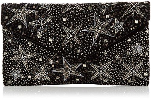 New Look - Sylvie Star, Carteras de mano Mujer, Black, 3x15x20 cm (W x H L)