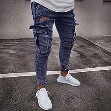 Pantalones Rotos Blanco Amazon Hombre es YqwF5Z1