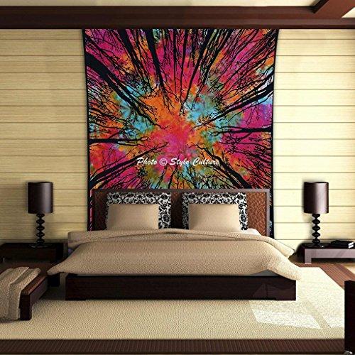 Stylo Kultur Wald Baum Mandala Tapisserie Baumwolle Multi Farbe Twin Gedruckt Psychedelic Wand hängen