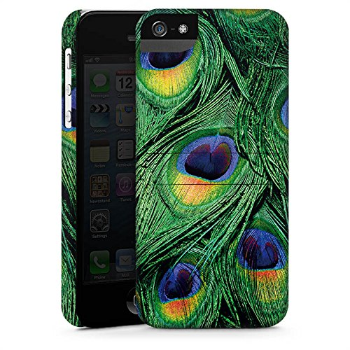 Apple iPhone X Silikon Hülle Case Schutzhülle Pfau Federn dschungel Premium Case StandUp