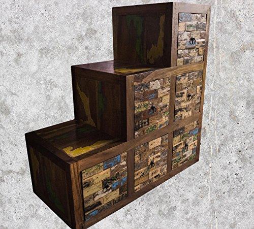 (K19)Antik Teak TV Kommode Kabinett Sideboard Schrank Shabby Vintage Anrichte Retro - 3