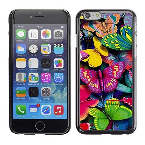Graphic4You Bunt Schmetterling Schmetterlinge Muster Design Harte Hülle Case Tasche Schutzhülle für Apple iPhone 6 / 6S Design #7