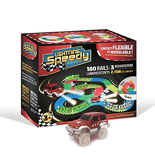 Lightning Speedy Circuit de voiture flexible, modulable et luminescent ultra fun avec ses...