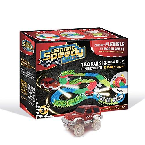 Lightning Speedy Circuit de voiture flexible, modulable et luminescent ultra fun...