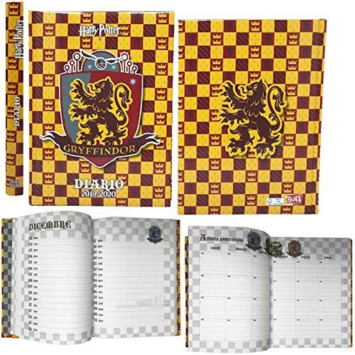Harry potter - diario agenda scuola datato 2019-20 - prodotto ufficiale - dimensioni 14x20 cm circa pagine in lingua italiana copertina imbottita