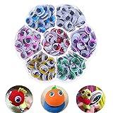 Haichen 210pcs/Set 10mm Selbstklebend Mix Farbe (7Farben) Wimpern Verdrehte Wiggly wackeligen Augen Scrapbooking DIY Basteln Kinder Spielzeug Zubehör