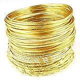Creacraft 25 mètres fil aluminium pour perlage et bijoux: styles d'or de luxe - notamment métallique, diamant-effets et plus - aluminium artisanat fil 2mm