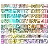 eBoot 96 Diseños de Vinilos de Uñas Set de Hojas de Pegatinas de Plantillas de Uñas para Diseño de Arte de Uñas, 24 Hojas, 288 Piezas