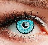 Farbige Kontaktlinsen HEROES OF COSPLAY Circle Lenses'COLORWORLD' Farblinsen für Cosplay, GUT DECKEND, INTENSIVE FARBEN, BEQUEM zu tragen (Hellblau)