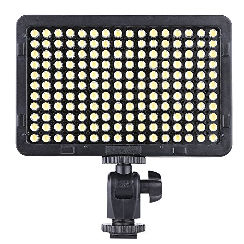 Andoer Tragbare Video Studio Fotografie Lampe Licht Panel 176 LEDs 5600K für Cannon Nikon Pentax Olympus Camcorder DSLR-Kamera