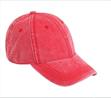 93c50e56 Vintage washed cotton fashion Cap Baseball Cap , red: Amazon.co.uk: Sports  & Outdoors