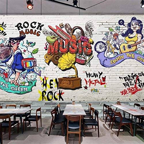 Preisvergleich Produktbild zyyaky Tapetenrestaurantbar-Hintergrundwanddekorationstapetenwand 3 D
