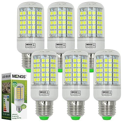 6X MENGS® E27 LED Lampe 6W 8W 12W AC 220-240V Kaltweiß 6500K SMD