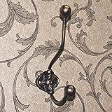 GUANGMING77 Gancho Gancho Gancho Gancho Colgante Escudo Tieyi Wc Habitación Gancho Decorativo, Negro