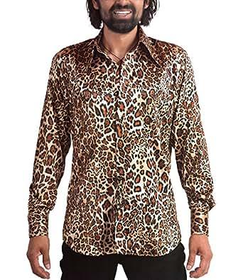 70er jahre leoparden muster hemd bekleidung. Black Bedroom Furniture Sets. Home Design Ideas