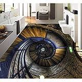 Lmopop Retro Holztreppe 3D Boden Malerei Tapete Aufkleber Wohnzimmer Badezimmer Anti Tragen PVC Selbstklebende Bodenbelag Tapeten200X140Cm