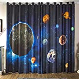 Waple Custom 3D Stereo Nebula Star Star Universum Science Fiction Thema Kinder Schlafzimmer KTV Fenster Vorhang 260X400CM
