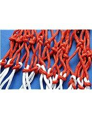 Edealing 2PCS azul blanco rojo del baloncesto neto de 6 mm de nylon Meta Lamer malla de alta calidad