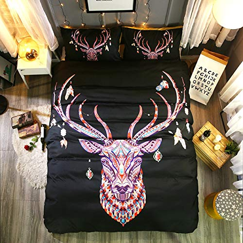 -Set 3Dbettbezug Set königin Tier böhmischen Druck Bettwäsche Set Kissenbezug Tagesdecken Bettbezug Größe Bett Linie, Uns Volle 3 stücke ()