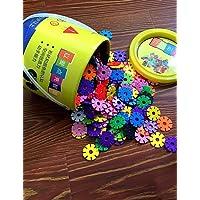 Aimitoysidy 3.3cm Schneeflocken Eimer gesetzt Bausteine Baukasten DIY Spielzeug (300pcs) preisvergleich bei kleinkindspielzeugpreise.eu